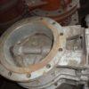 32с10п DN300 PN10 Затвор дисковый поворотный  стальной фланцевый  с двойным  эксцентриситетом  с редуктором