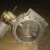 32тн614п DN400 PN6 Затвор дисковый поворотный  титановый фланцевый  с двойным  эксцентриситетом  с пневмоприводом